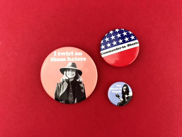 election theme subscription box hillary buttons